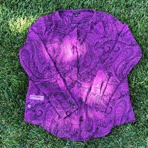 Ann Taylor Purple Paisley Top